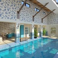 Проект интерьера бассейна в стиле Прованс