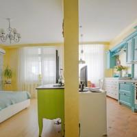 Интерьер однокомнатной квартиры 46 кв.м.