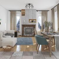 Проект интерьера дома в эко стиле 2019г
